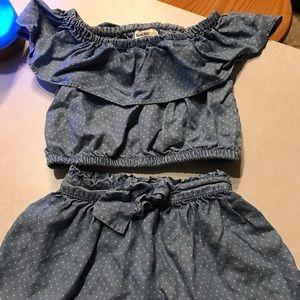 2 piece shirt and skirt